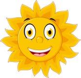Happy sun cartoon character Royalty Free Stock Image