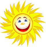 Happy sun cartoon Royalty Free Stock Photography