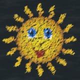 Happy sun chalk image generated background Stock Photo
