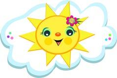 Happy Sun with a Cloud Stock Photos