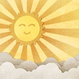 Happy sun and cloud Stock Images