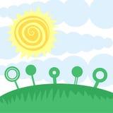 Happy sun day. Creative design of happy sun day Royalty Free Stock Photos