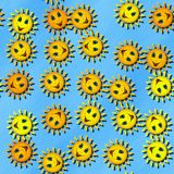 Happy sun generated seamless texture Stock Image