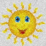 Happy sun glass mosaic generated texture Royalty Free Stock Photos