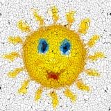 Happy sun graffiti mosaic generated texture Stock Photography