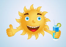 Happy sun on holiday at the beach Royalty Free Stock Photography