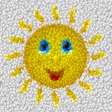 Happy sun image balls generated hires texture Stock Image