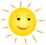 Happy sun logo Royalty Free Stock Images
