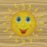 Happy sun pixelated image generated texture Stock Photo