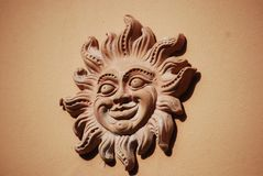 Sun sculpture in Italy stock photos