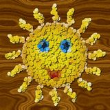 Happy sun sewing buttons image generated background Royalty Free Stock Photos