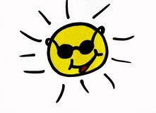 Happy sun shining with sunglasses on Stock Photography