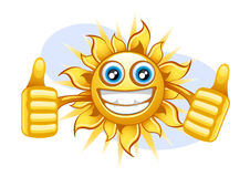 Happy sun in the summer Royalty Free Stock Image