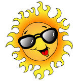 Happy Sun With Sunglasses Stock Photo