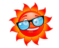 Happy sun in sunglasses Royalty Free Stock Photography
