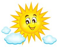 Happy sun topic image 1 Royalty Free Stock Photo