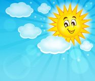 Happy sun topic image 2 Stock Images