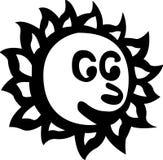 Happy sun vector illustration Royalty Free Stock Photo