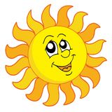 Happy Sun vector illustration. Happy Sun on white background - vector illustration Royalty Free Stock Photo