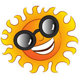 Happy Sun Wearing Sunglasses Royalty Free Stock Photography
