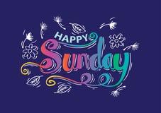 Happy Sunday Stock Image