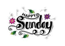 Happy Sunday Royalty Free Stock Photography