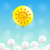 Happy sunny balloon Royalty Free Stock Photo