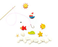 Happy Sunny Vacation Time! Fishing Fun Stock Images