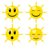 Happy suns Stock Images