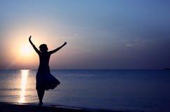 Happy sunset Stock Image