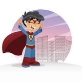 Happy Super Boy Stock Photo