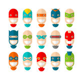 Happy superhero character Royalty Free Stock Image
