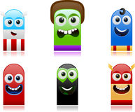 Happy superhero monsters set 1 Stock Photography
