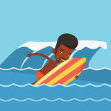 Happy surfer in action on a surf board. Stock Photography