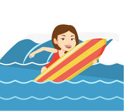 Happy surfer in action on a surf board. Stock Photo