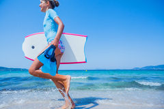 Happy Surfing girl. Stock Photography