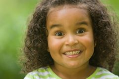 happy surprised girl stock images