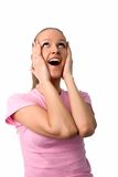 Happy surprised woman Stock Photo