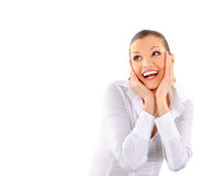 Happy surprised young girl Royalty Free Stock Images