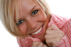Happy Sweater Girl Stock Images