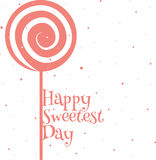 Happy sweetest day card. Happy sweetest day greetings card, vector illustration Stock Photography