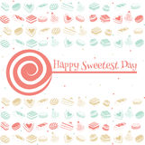 Happy sweetest day card. Happy sweetest day greetings card, vector illustration Stock Image