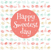 Happy sweetest day card. Happy sweetest day greetings card, vector illustration Royalty Free Stock Images
