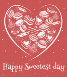 Happy sweetest day card. Happy sweetest day greetings card, vector illustration Royalty Free Stock Photo