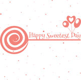 Happy sweetest day card. Happy sweetest day greetings card, vector illustration Royalty Free Stock Photography
