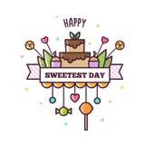 Happy Sweetest Day. Vector illustraton. Happy Sweetest Day. Vector illustraton of sweets Royalty Free Stock Photos