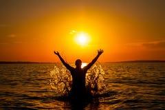 Happy Swimer Stock Photo