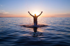 Happy swimer Royalty Free Stock Images