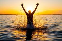 Happy swimer Royalty Free Stock Image