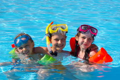 Happy Swimmers Royalty Free Stock Image
